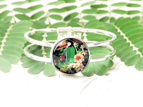 Bracelet toucan fleuri