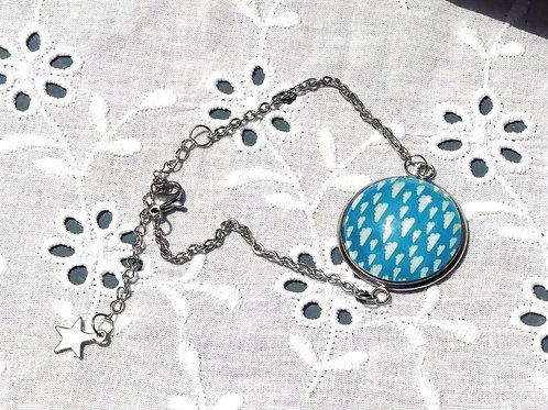 Bracelet bleu nuage