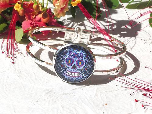 Bracelet tête de mort inspiration mexicaine