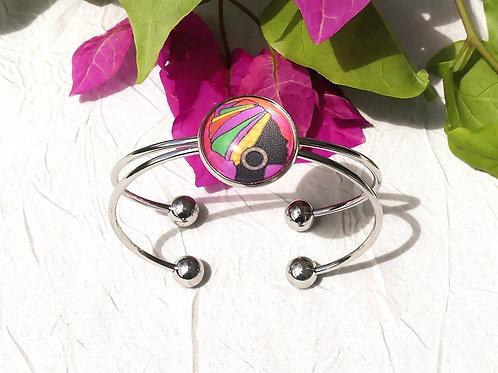 Bracelet jonc femme guyanaise