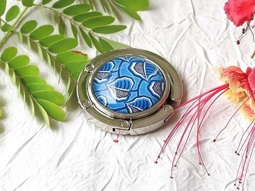 Accroche-sac wax bleu
