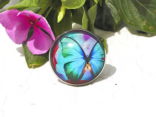 Bague papillon réglable