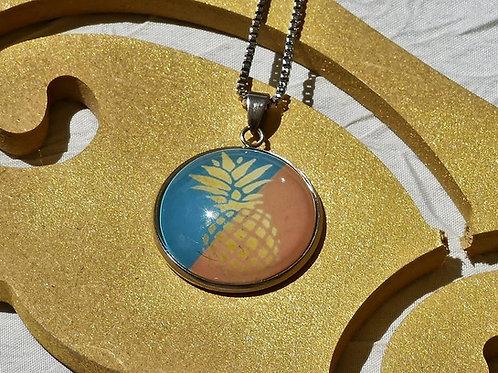 Sautoir collier ananas