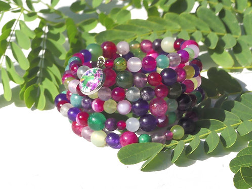 Bracelet perles de gemmes