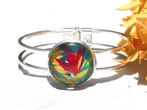 Bracelet fleur héliconia