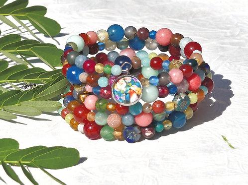 Bracelet perles oiseau