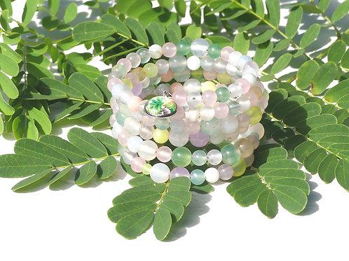 Bracelet multi-rangs pastel