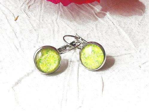 Ptt Boucles d'oreille citrons verts
