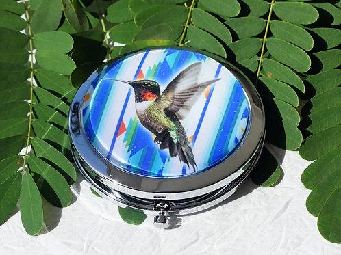 Miroir colibri bleu