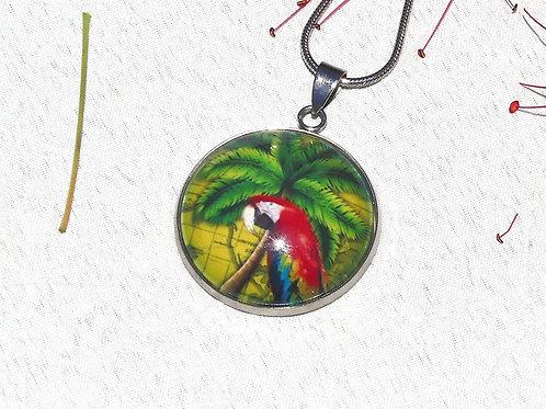 Collier perroquet rouge aras