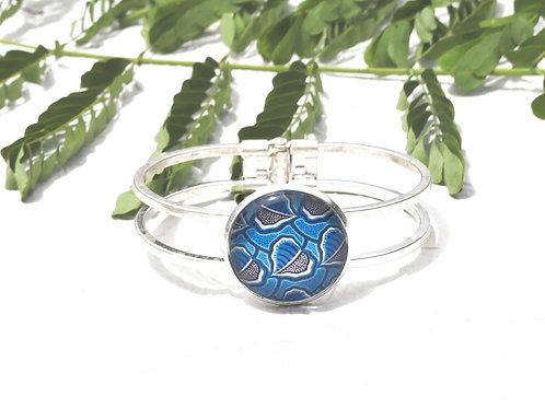 Bracelet wax bleu