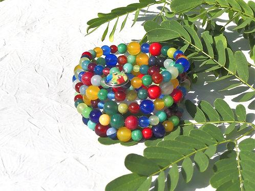 bracelet manchette coloré