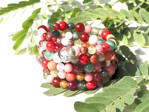 Bracelet multi-rangs perles