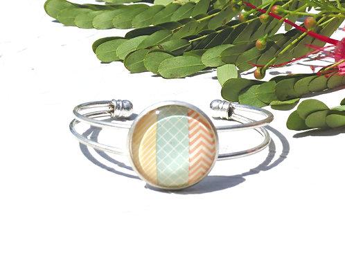 Bracelet jonc pastel