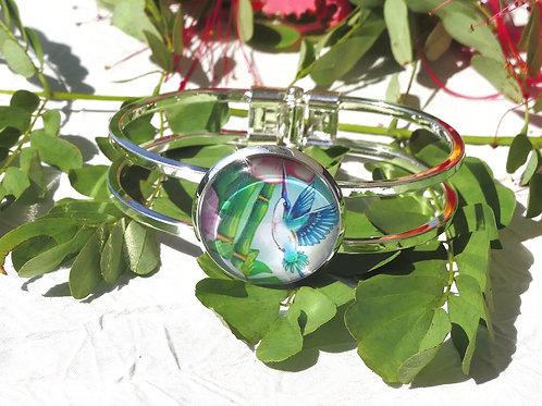 Bracelet fleur bambous colibri