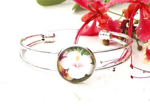 Bracelet jonc hibiscus