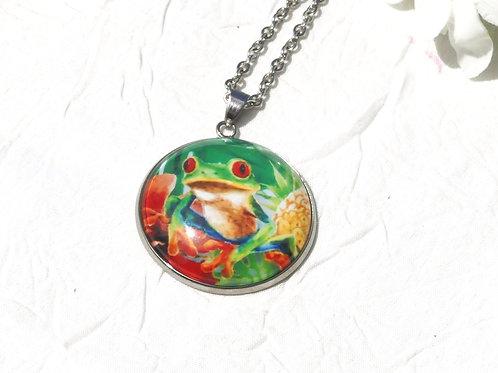 Sautoir collier grenouille