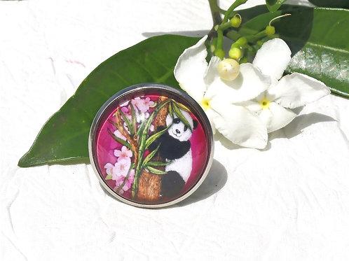 Bague panda rose