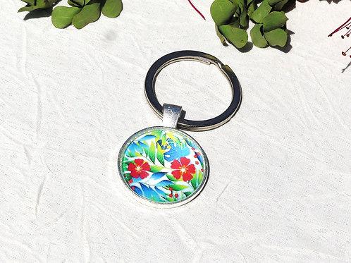 Porte-clefs fleurs