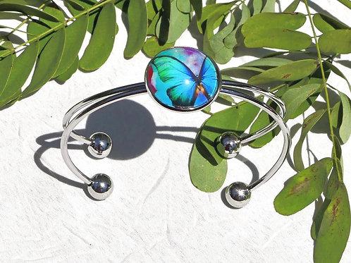 Bracelet papillon turquoise