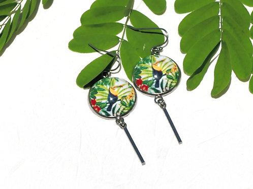 Boucles d'oreille toucans