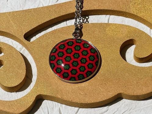 Sautoir collier rouge