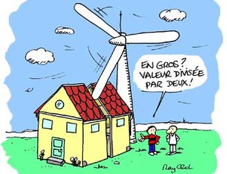 La présence d'éoliennes dévalorise votre maison, le nier est une escroquerie !