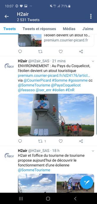 Pour H2air, l'arrivée d'éoliennes est un atout touristique !