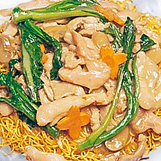 Chicken Pan–Fried Noodle | 雞球炒麵