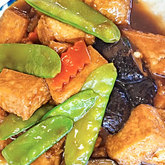 Braised Tofu w/Vegetables | 紅燒豆腐