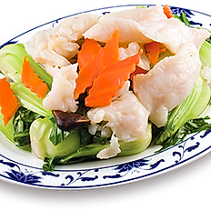 Sautéed Rock Cod w/Vegetable | 時菜班球