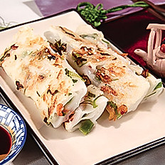 Deep–Fried Dried Shrimp Rice Rolls | 香煎蝦米腸