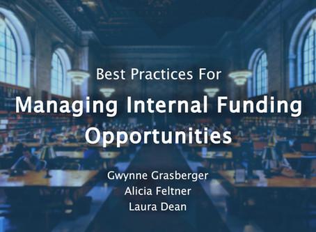 Webinar Summary: Best Practices for Managing Internal Funding