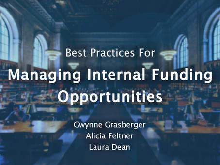 Webinar Summary: Best Practices for Managing Internal Funding
