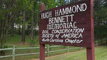 Hugh Hammond Bennett Memorial Sign at the Old Home Place