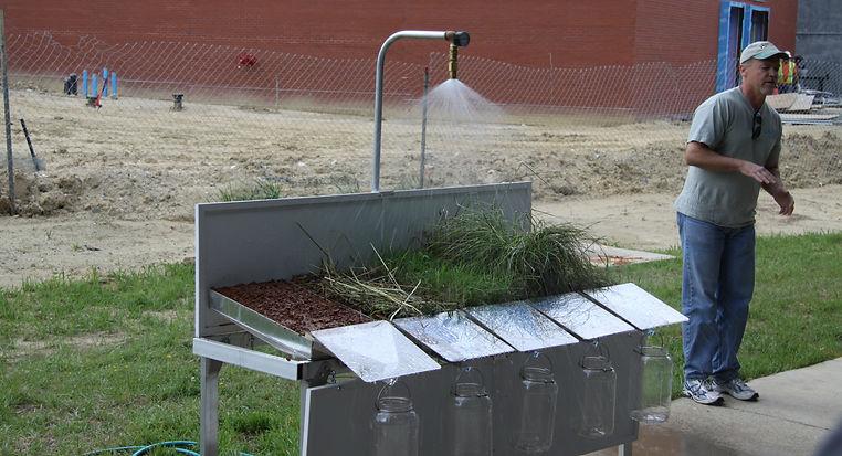 Soil erosion demonstration led by Steve Woodruff, USDA-NRCS