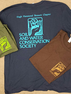 T-shirts for the Hugh Hammond Bennett Chapter of the Soil and Water Conservation Society