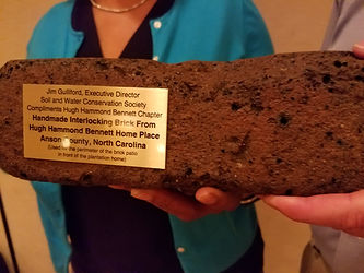 An original brick from the home place of Hugh Hammond Bennett