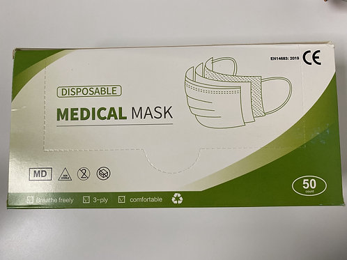 Various Colour Disposable Medical Face Mask