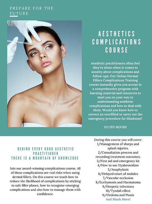 Aesthetics Complications Online Course