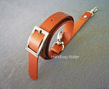 Leather strap for handbag
