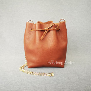 How to make a leather bucket bag