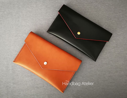 Leather envelope bags