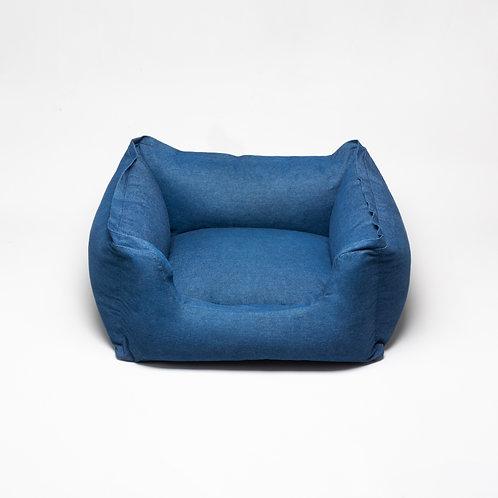 Hundebett Denim Blau
