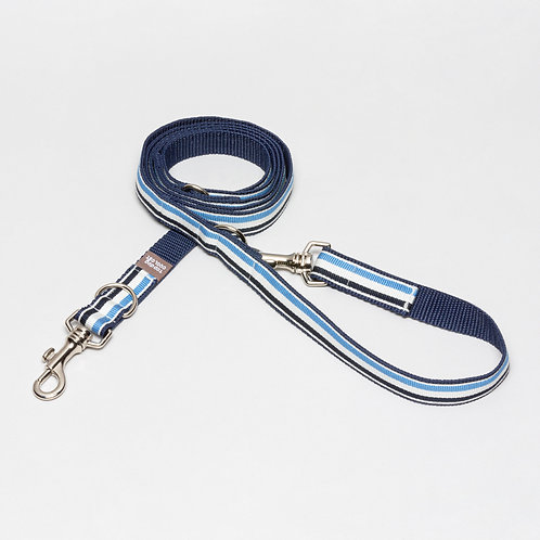 TDCC Hundeleine Deauville 25mm blau weiß, dunkelblau top dog cool cat SS21