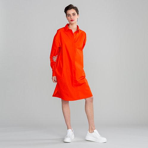 Hemdblusenkleid Cannes Rot
