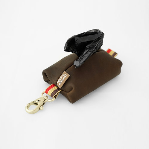Leather poo bag Notting Hill brown