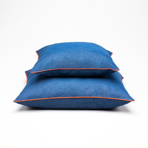 Dog Bed Cushion Denim Blue