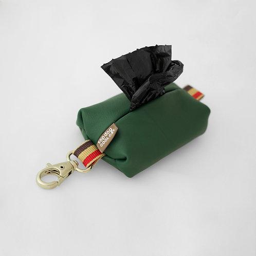 Leder Poo Bag Notting Hill Grün