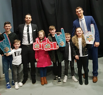 The Belfast Giants with Shauna's Family